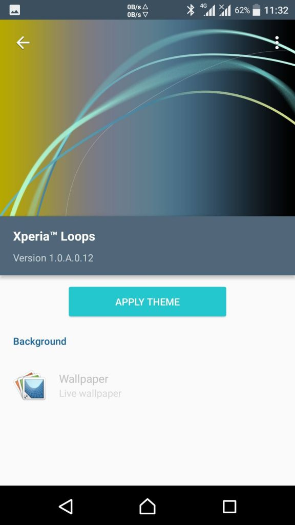 Download Official Xperia Loops Theme From Xperia Xzs