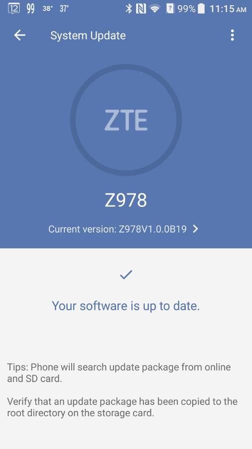 got this zte blade v8 pro update Shameem September