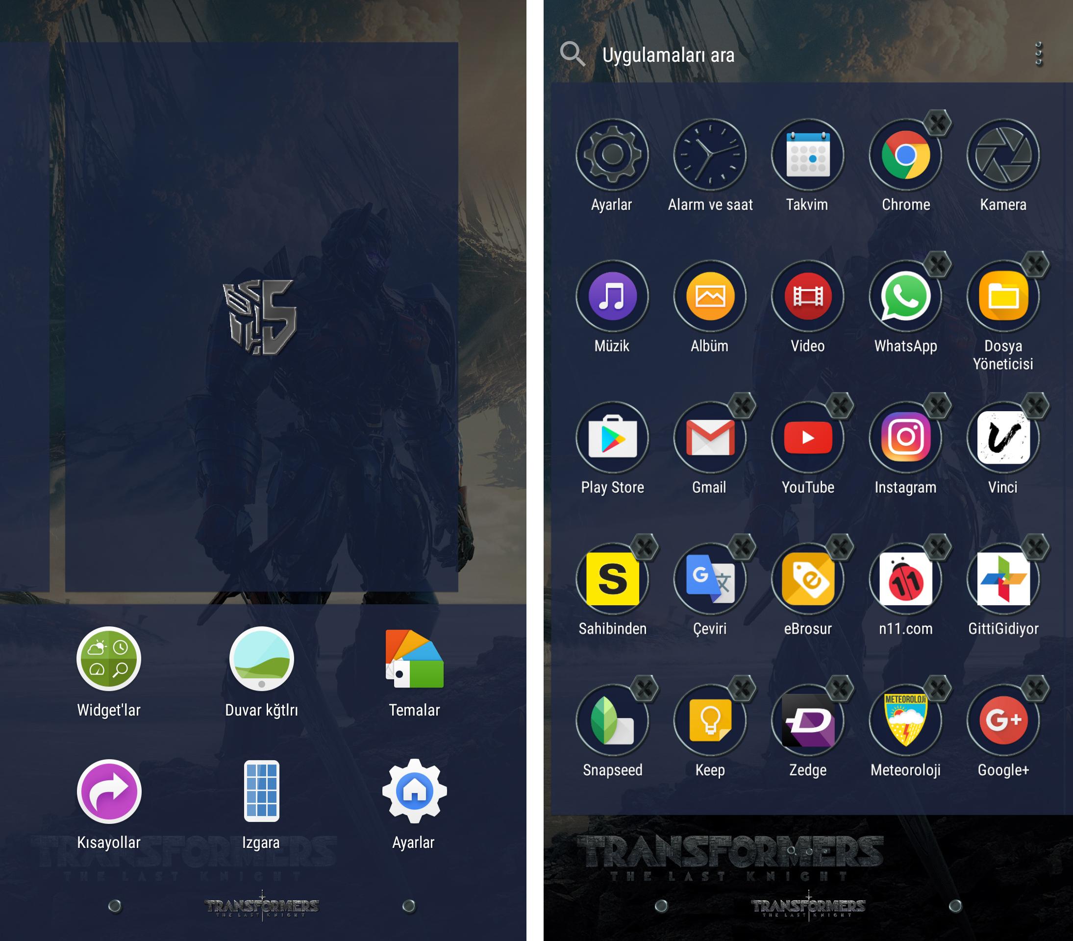 Gmail theme size - Xperia Home Launcher Xperia Transformers Last Knight Theme