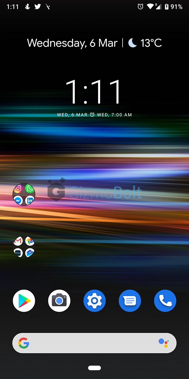 Xperia 10 Live Wallpaper Black
