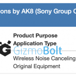 WF-1000XM4 FCC Certification FCC ID AK8YY2948