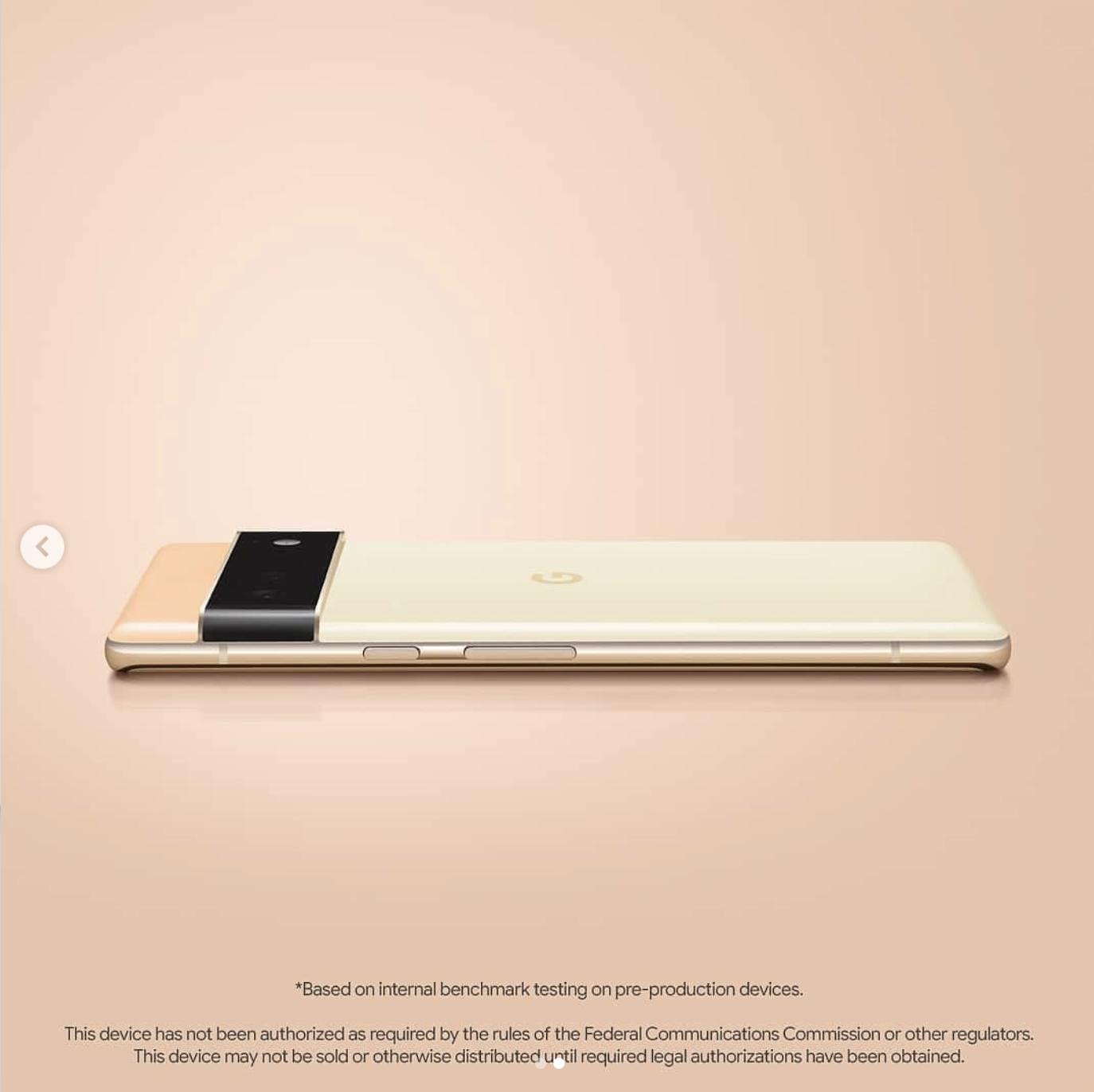 Pixel 6 Pro Photo - Gold Color